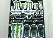 conjunto autoculantes monster energy *****