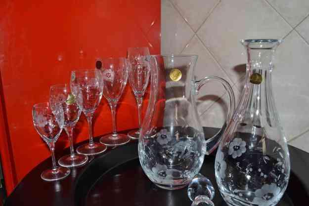 Serviço de copos (taças) Cristal d'Arques NOVO