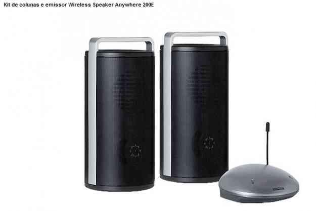Kit de colunas e emissor Wireless Speaker Anywhere 200E