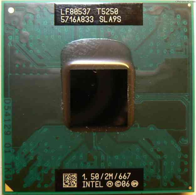Intel® Core™2 Duo Mobile Processor T5250  (2M Cache, 1.50 GHz, 667 MHz FSB)