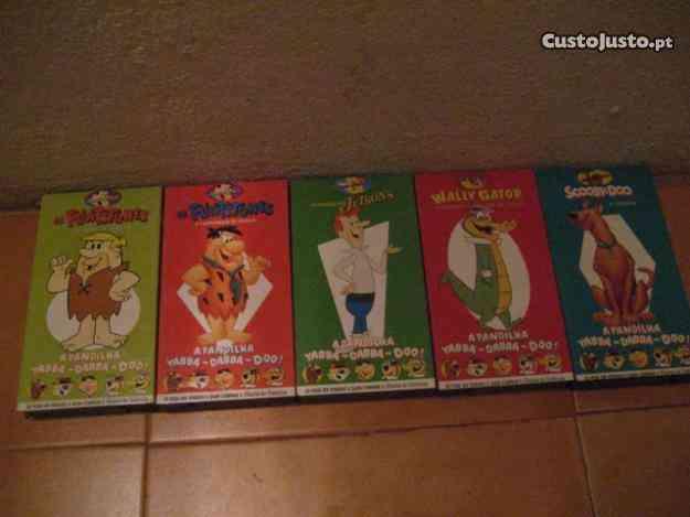 Colecção cassetes 7 VHS Hanna Barbera