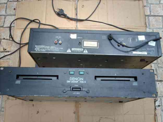 2 LEITOR DE CD - 2 DECKS CADA USADOS - DENON DN-2000F MK II