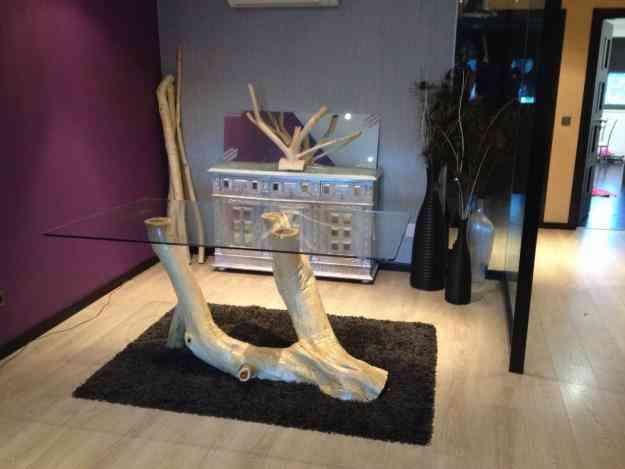 Mesa de jantar ( tronco de arvore )