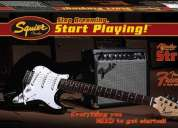Pack squier affinity strat special & frontman 15g amp - black