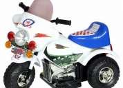 Moto eléctrica de policia branca