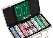 Fichas de poker - conjunto com 300 fichas e mala de aluminio