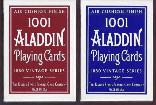 Baralho de Cartas Aladdin 1001 Vintage Deck em Azul ou Vermelho