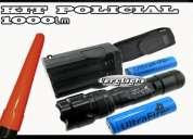 Kit tactico policial lanterna 1000 lumens