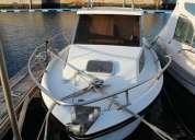 barco jeanneau cabinado c/5,90 mts.p/pesca desportiva c/palamenta e eletronica completa