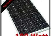 Painel solar monocritaline de 100w + regulador de carga + 2 fichas 260€