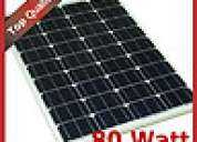 Painel solar 80w monocritalina +regulador 10a +2 fichas mc4 195€