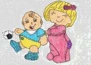 Cuida-se de crianças até aos 3 anos - noite e fim-de-semana
