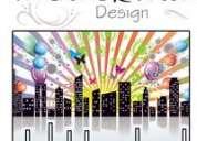 Trabalhos de design gráfico, web design e publicidade