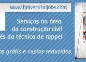 trabalhos verticais - manutenção de imóveis - promoção anti-crise