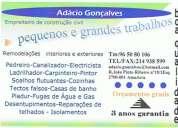 RemodelaÇÕes, reparaÇÃo conservaÇÃo de coberturas e fachasdas de edificiostlm: 965080106