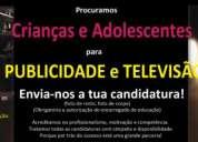 Castings para crianças e adolescentes para publicidade e televisão
