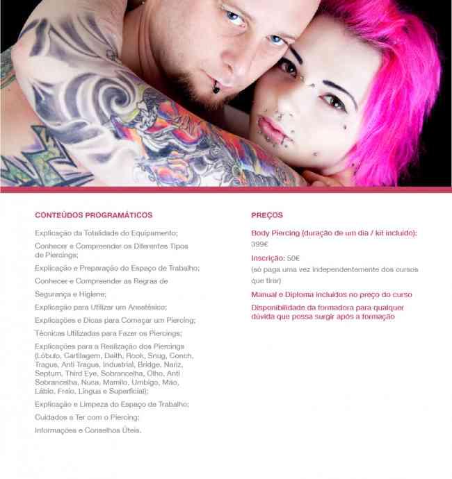 Curso de Tatuagem Profissional + Body Piercing Portuga + Dipoloma