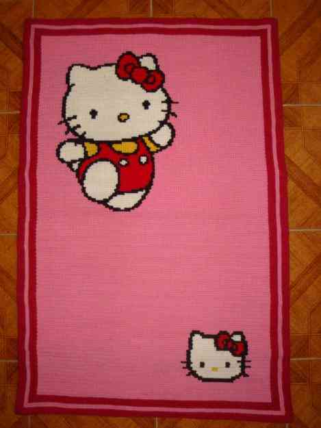 Vendo tapete Arraiolos Hello Kitty NOVO Vale frio Casa  ~ Tapetes Quarto Hello Kitty