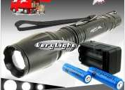 Kit completo lanterna cree led 1600 lumens zoomable