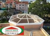 Clarabóia & coberturas em policarbonato ou vidro,toldos,estruturas,pinturas,telhados