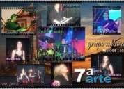 Grupo musical 7ª arte com camião palco