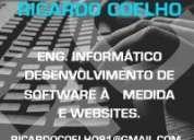 Desenvolvo websites e software à medida a bons preços
