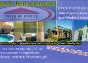 Obras e remodelações, pavimentos,vedações,caixilharias,ladrilhador,interior exteriores