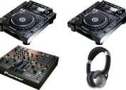 2 x pioneer cdj-2000 nexus  e 1 x djm-2000 nexus dj mixer para apenas 2400 euros