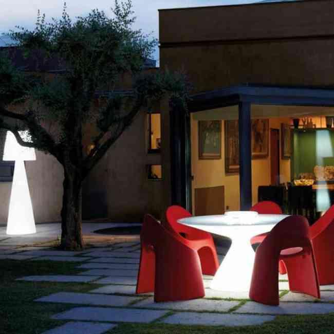 Mesa redonda iluminada modelo ED